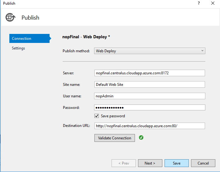 How to deploy nopCommerce to Azure